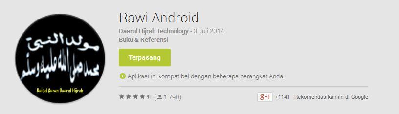 Download Rawi Android (Kitab Maulid)