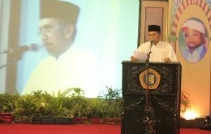 Dewan Penyantun PZH Genggong, Bpk. H. Muhammad Tachril Sapi'ie ketika memberikan sambutan