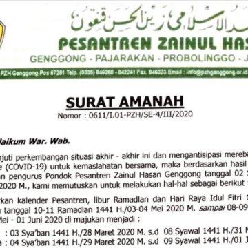 Surat Amanah Terkait Santri Di Pulangkan
