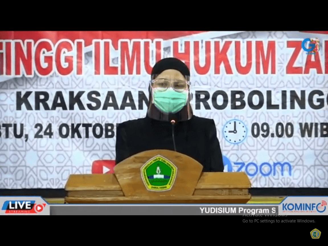 MASA PANDEMI, STIH ZAHA GENGGONG GELAR YUDISIUM 2020 ONLINE